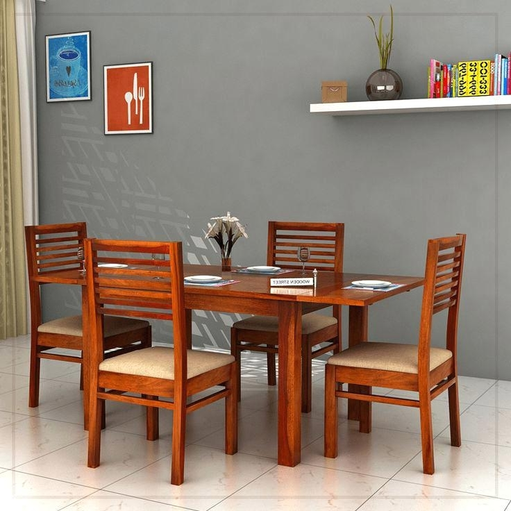 Best And Newest 4 Seater Extendable Dining Tables Within 4 Seater Extendable Dining Table 4 Extendable Dining Table The (View 13 of 20)