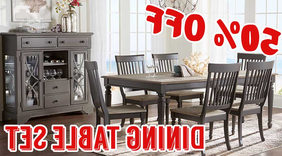 Best And Newest 50 Percent Off Cindy Crawford Home Ocean Grove Gray 5 Pc Dining Room Inside Crawford 7 Piece Rectangle Dining Sets (View 8 of 20)