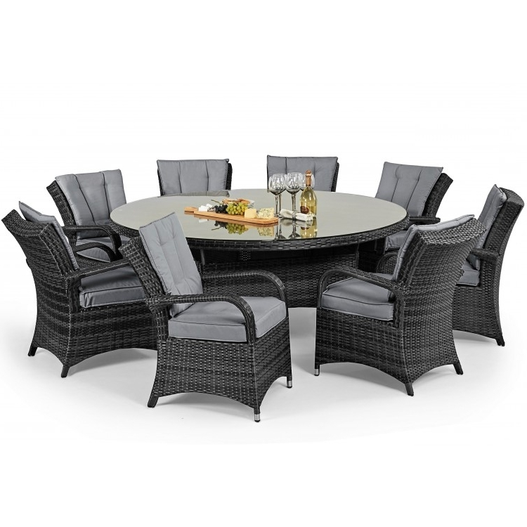 Best And Newest 8 Seater Round Dining Table And Chairs Pertaining To Maze Texas 8 Dining Set (View 4 of 20)