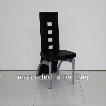 Best And Newest A36p Modern Black High Back Leather Metal Chairs For Dining Room Within High Back Leather Dining Chairs (View 18 of 20)