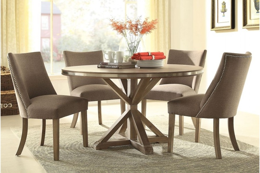Best And Newest Beaugrand Round Dining Sethomelegance Furniture (View 16 of 20)