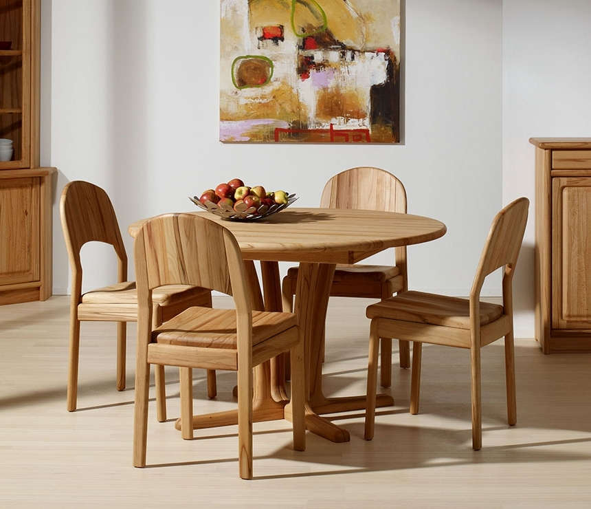 Best And Newest Beech Dining Tables And Chairs Intended For Traditional Round Dining Room Table – Wharfside Danish Furniture (View 2 of 20)
