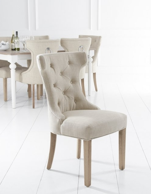 Best And Newest Button Back Dining Chairs Within Lulworth Winged Button Back Dining Chair – Fabric & Leather Dining (View 1 of 20)