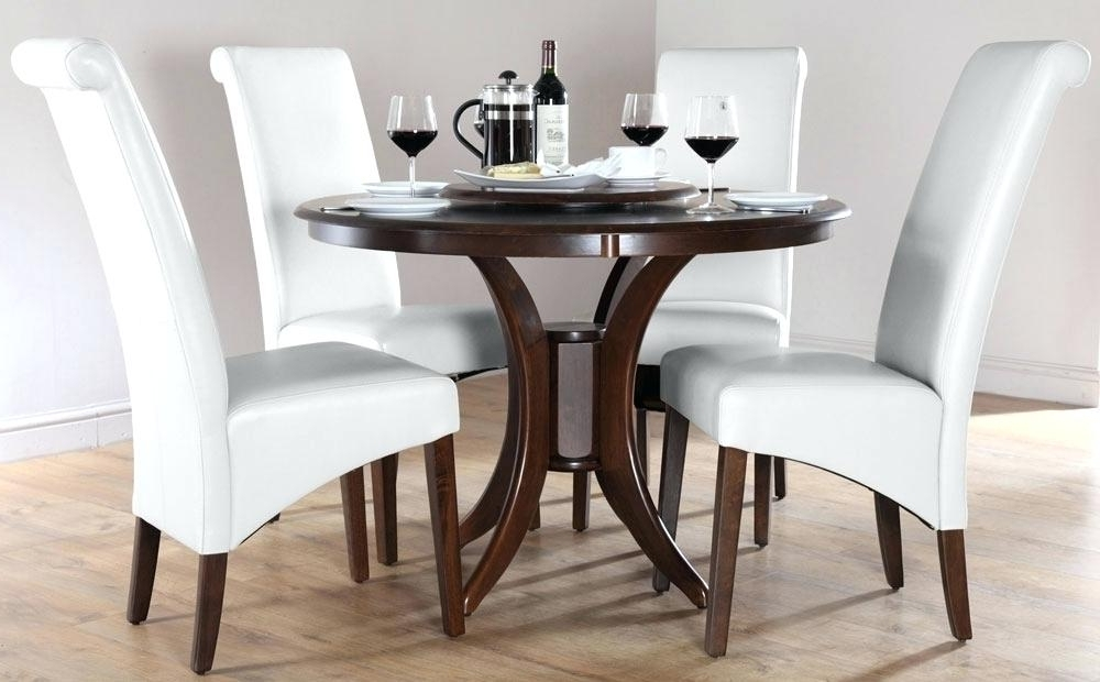 Best And Newest Circular Dining Tables For 4 For Round Dining Room Tables For 4 Urban Table Oak And Chairs 42 Inch (Gallery 17 of 20)