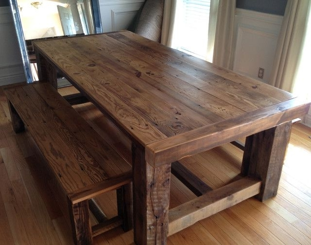 Best And Newest Classy Of Recycled Dining Tables Recycled Barn Wood Tables Dining With Cheap Reclaimed Wood Dining Tables (View 19 of 20)