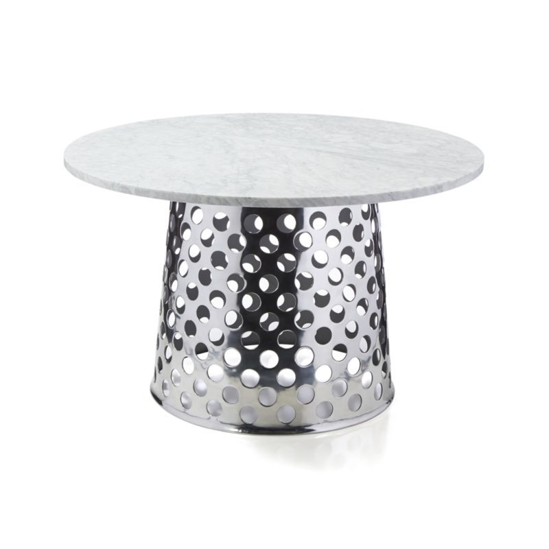 "Best And Newest Como Dining Tables With Regard To Como 48"" Round Marble Top Dining Table (View 11 of 20)"