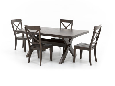 Best And Newest Craftsman 5 Piece Round Dining Sets With Uph Side Chairs With Regard To Dining – Dining Sets (View 4 of 20)
