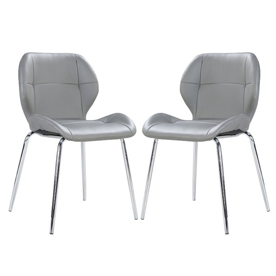Best And Newest Darcy Dining Chair In Grey Faux Leather In A Pair 27198 Inside Grey Leather Dining Chairs (View 18 of 20)