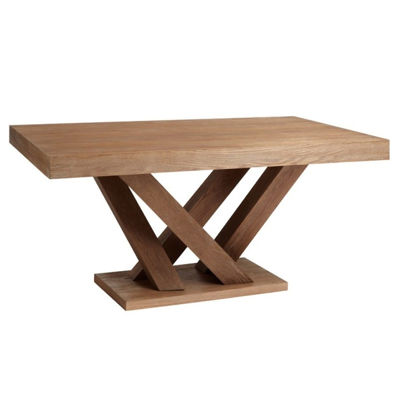 Best And Newest Dining Tables: Glamorous Rectangular Pedestal Dining Table Pedestal With Caira Extension Pedestal Dining Tables (View 16 of 20)