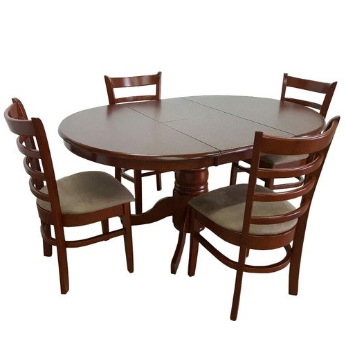 Best And Newest Extendable Dining Table And 4 Chairs For By Designs Bennett 4 Seater Extendable Dining Table Set & Reviews (View 8 of 20)