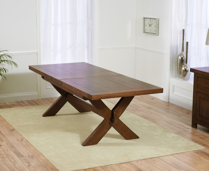 Best And Newest Extending Dining Tables – Solid Wood Tables – Extending Oak Tables With Regard To Dark Wood Extending Dining Tables (View 2 of 20)
