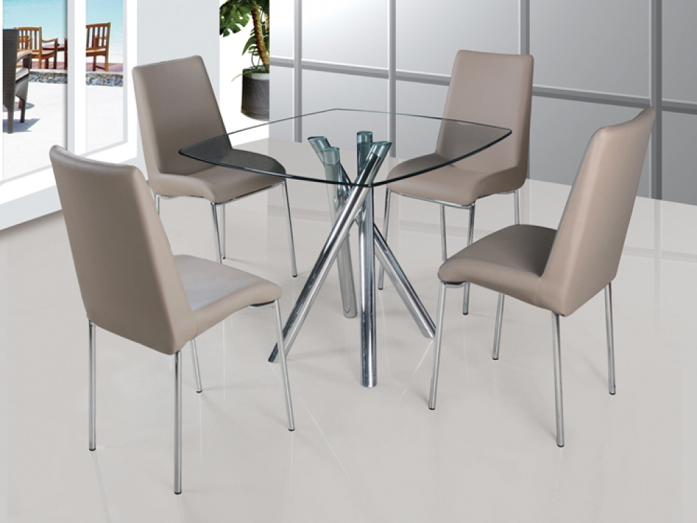 Best And Newest Glass Dining Tables And Chairs Inside Glass Dining Room Table And Chairs Best Chairs Round Glass Home (View 9 of 20)