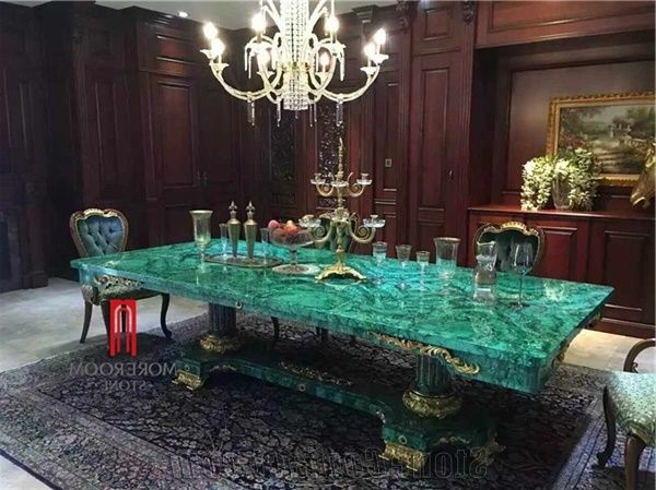Best And Newest Green Dining Tables With Green Malachite Price Dining Table Top Backlit Green Stone (Gallery 18 of 20)