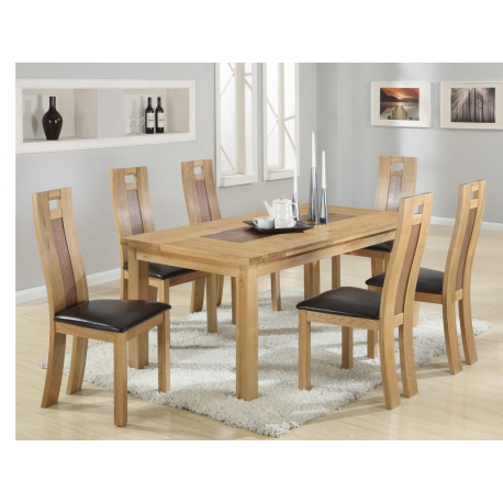 Best And Newest Harvard Solidoak Dining Table + 6 Chairs – Forever Furnishings Throughout Solid Oak Dining Tables And 6 Chairs (View 2 of 20)