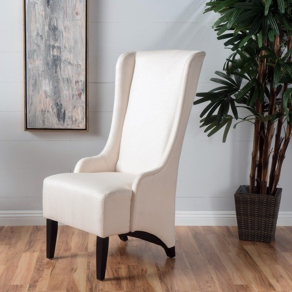 Best And Newest High Back Dining Chairs For Shop Callie High Back Fabric Dining Chairchristopher Knight Home (View 3 of 20)