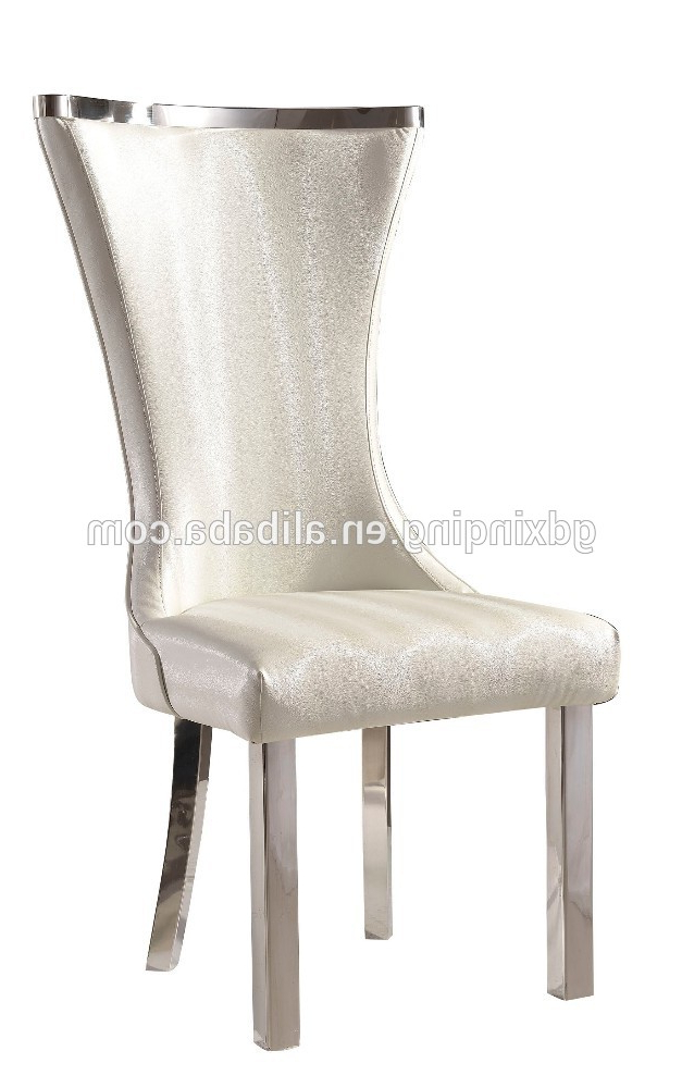 Best And Newest High Back Leather Dining Chairs Regarding Italian Upholstered High Back White Leather Dining Chairs (View 8 of 20)