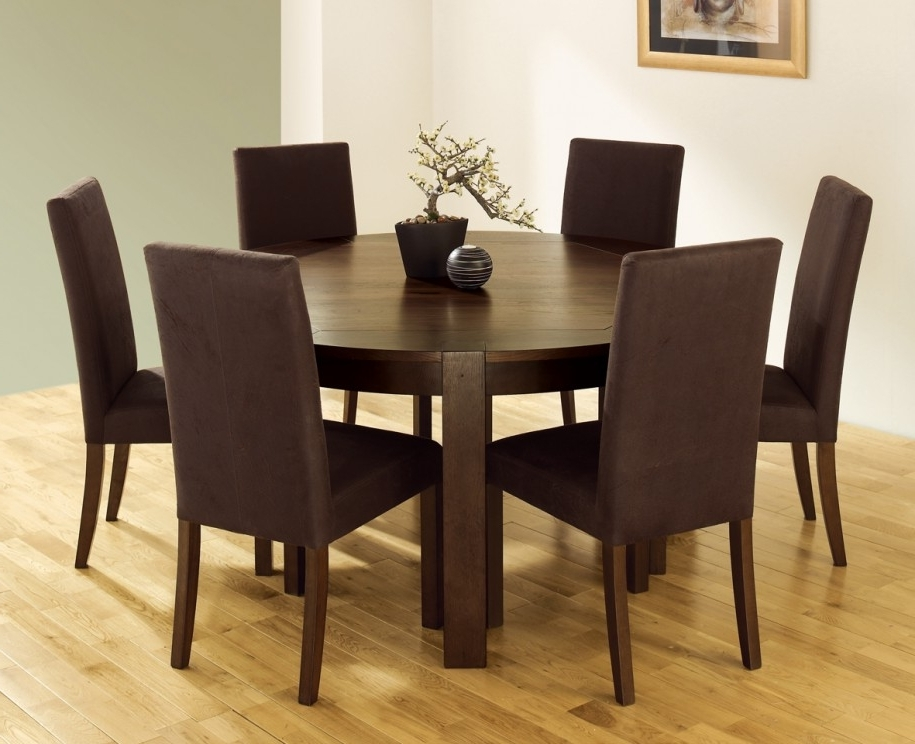 Best And Newest Kitchen Designs: Dramatic Contemporary Wood Dining Furniture Round Regarding Cheap Dining Tables Sets (View 10 of 20)