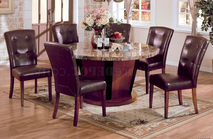Best And Newest Kyle Side Chairs Intended For 5 Pc Genuine Marble Top Dining Table With 4 Side Chairs (View 2 of 20)