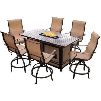 Best And Newest Laurent 7 Piece Rectangle Dining Sets With Wood Chairs Within Bar Height – Outdoor Bar Furniture – Patio Furniture – The Home Depot (View 6 of 20)