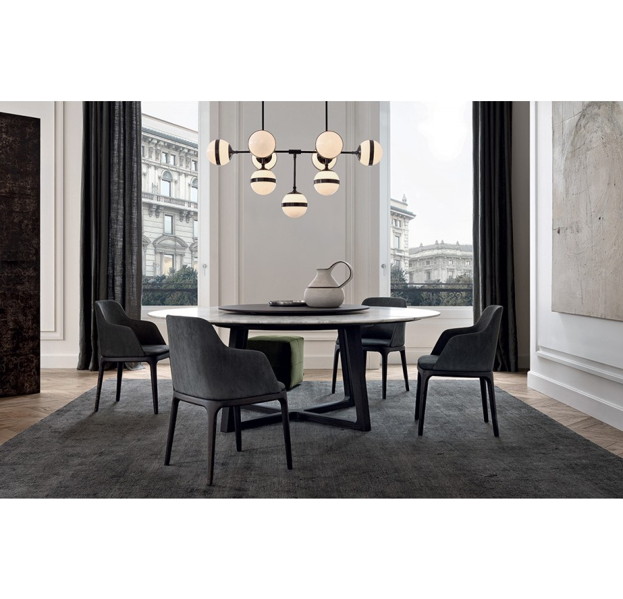 Best And Newest Laurent Round Dining Tables Inside Concorde Round Table D.200 Marble Toppoliform, Design (Gallery 11 of 20)