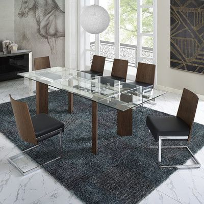 Best And Newest Logan 6 Piece Dining Sets With Regard To Wade Logan Victoria 6 Piece Dining Set Upholstery Color: Black (View 7 of 20)