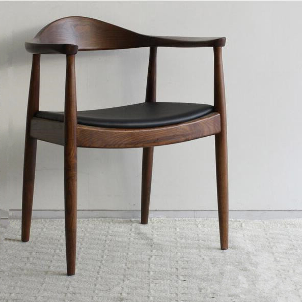 Best And Newest Mid Century Presidential Dining Chair Armchair In Real Leather Intended For Real Leather Dining Chairs (View 3 of 20)