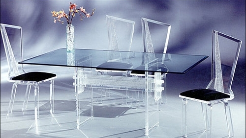 Best And Newest Modern Acrylic Dining Table Set – Olwin Acrylic Furniture, Surat Inside Acrylic Dining Tables (View 9 of 20)