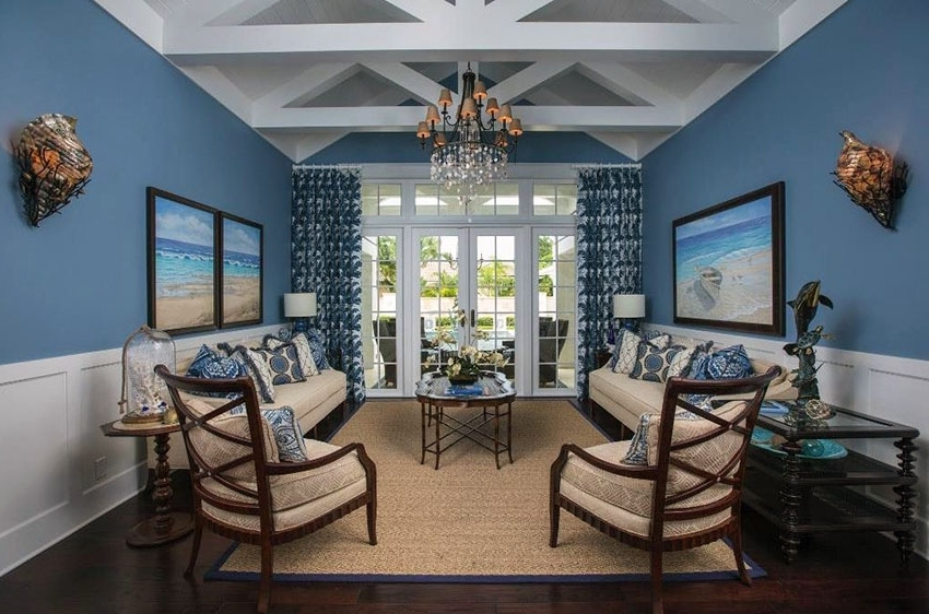 Best And Newest Nautical Blue Side Chairs Within 26 Blue Living Room Ideas (Interior Design Pictures) – Designing Idea (View 3 of 20)