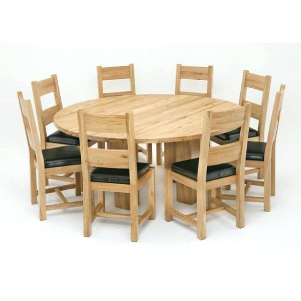 Best And Newest Oak Dining Tables And 8 Chairs Within Round Dining Table And 8 Chairs Round Dining Room Table Seats 8 New (View 14 of 20)