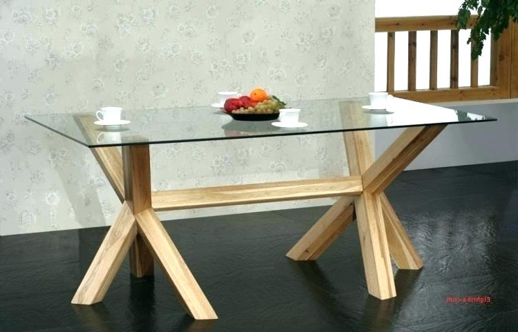 Best And Newest Oak Glass Top Dining Tables Pertaining To Round Oak And Glass Dining Table Dining Tables White Glass Dining (View 13 of 20)