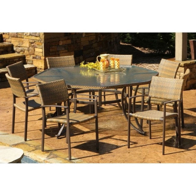 Best And Newest Outdoor Tortuga Dining Tables Inside Tortuga Outdoor Maracay 9 Piece Dining Set (Gallery 11 of 20)