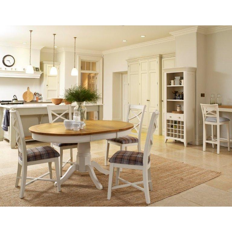 Best And Newest Padstow Extending Oak Dining Table & Chairs Ex Display – The Place With Regard To Oak Dining Tables And Fabric Chairs (View 19 of 20)