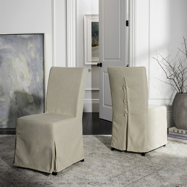 Featured Photo of Pearson Grey Slipcovered Side Chairs