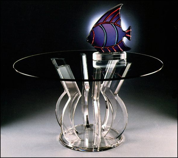 Best And Newest Round Acrylic Dining Tables Regarding Tables: A Round Acrylic Dining Table With An Interesting Base (View 7 of 20)
