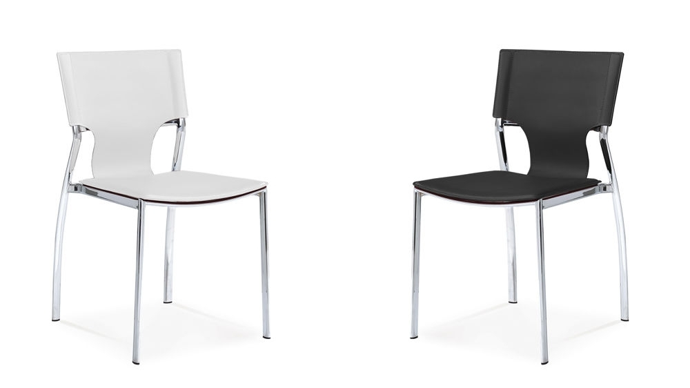 Best And Newest Serroni Trendy Chrome Dining Chair (View 3 of 20)