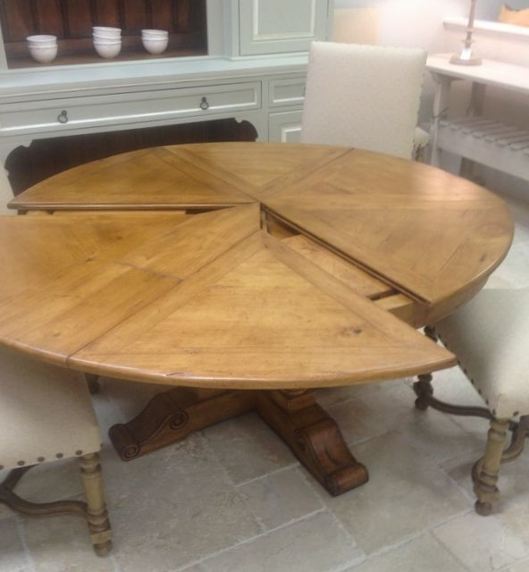 Best And Newest Small Round Extending Dining Tables Within Small Round Extending Dining Table Hampstead Soft Grey And Oak (View 12 of 20)
