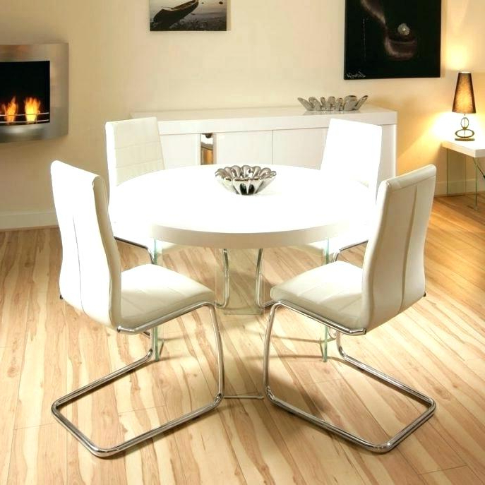 Best And Newest Small Round White Dining Tables Pertaining To Modern White Round Dining Table Small Round White Dining Table (Gallery 9 of 20)