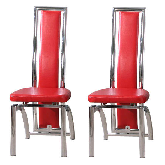 Best And Newest Special Offer, 2 Chicago Red Dining Chairs For £135 11830 Intended For Red Dining Chairs (View 3 of 20)