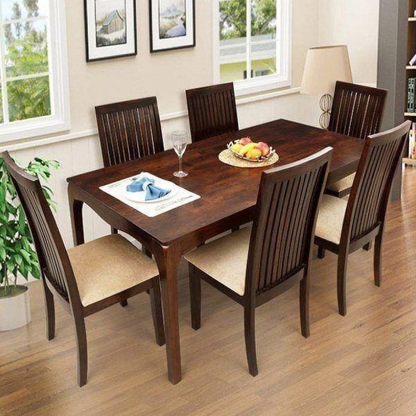 Best And Newest Used Dining Room Chairs For Sale Ethnic Handicrafts Elmond 6 Seater Within Cheap 6 Seater Dining Tables And Chairs (View 3 of 20)