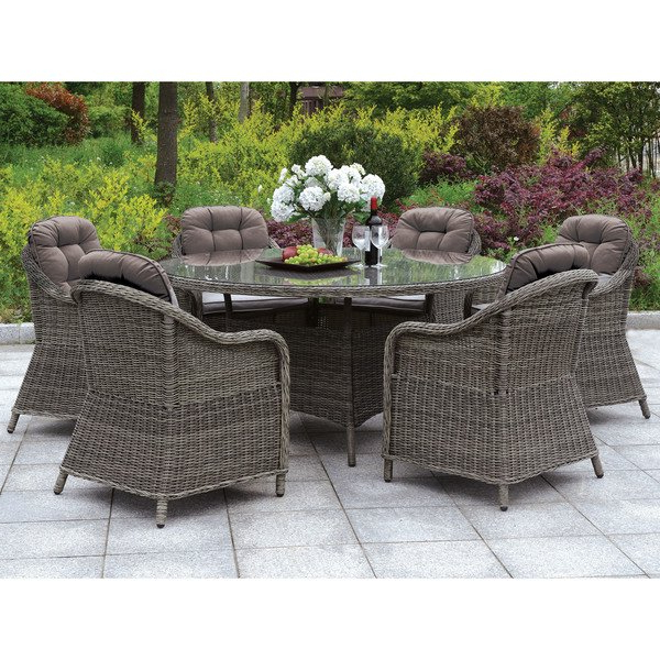 Best And Newest Valencia 5 Piece 60 Inch Round Dining Sets Regarding Shop Furniture Of America Lenka Contemporary Grey 59 Inch Glass (View 12 of 20)
