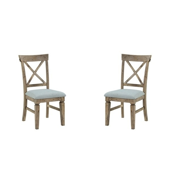 Best And Newest Valencia Side Chairs With Upholstered Seat Pertaining To Shop Emerald Home Valencia Cross Back Upholstered Seat Dining Chair (View 4 of 20)