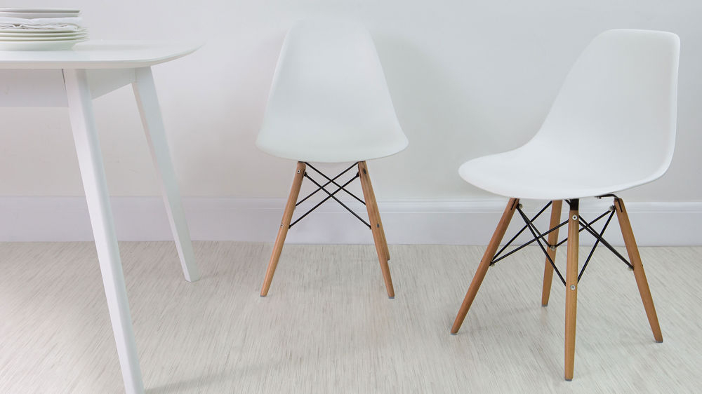 Best And Newest White Dining Chairs Within Eames Dining Chair High Quality Uk Fast Delivery (Gallery 4 of 20)