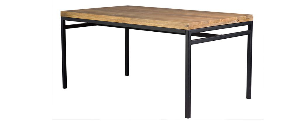 Best And Newest Ypster 160X90Cm Industrial Dining Table In Mango Wood And Metal Within Mango Wood/iron Dining Tables (View 1 of 20)