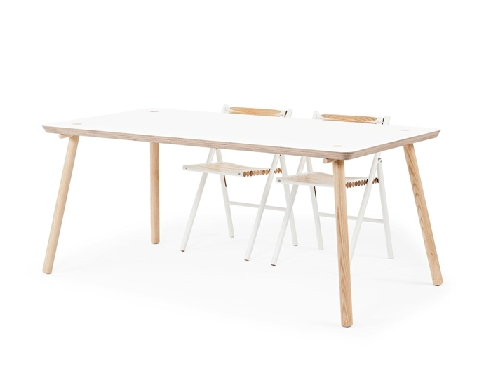 Birch Dining Tables In Best And Newest Reinier De Jong Designs Minimalist Stip Table Made From Birch (View 20 of 20)