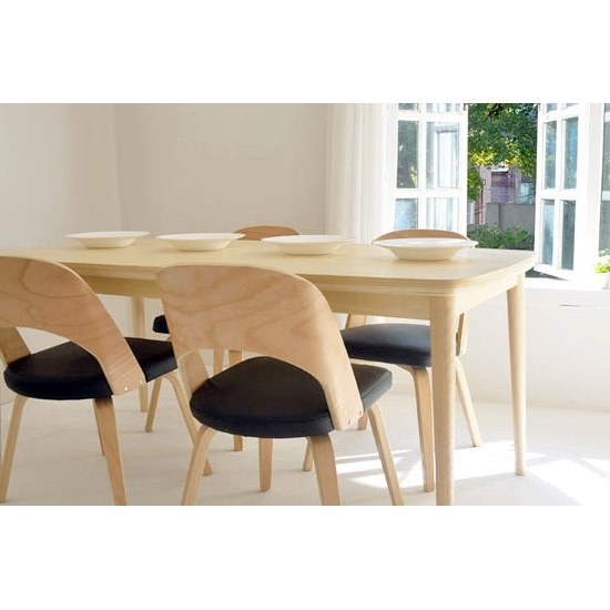 Birch Dining Tables Regarding Famous Solid Wood Dining Tables And Chairs Dining Chair Scandinavian Modern (View 5 of 20)
