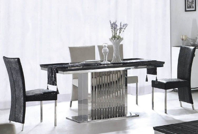Black 8 Seater Dining Tables Inside 2017 Ct845 8 Seater Marble Dining Table Cross Leg Queen Anne Table Legs (View 4 of 20)