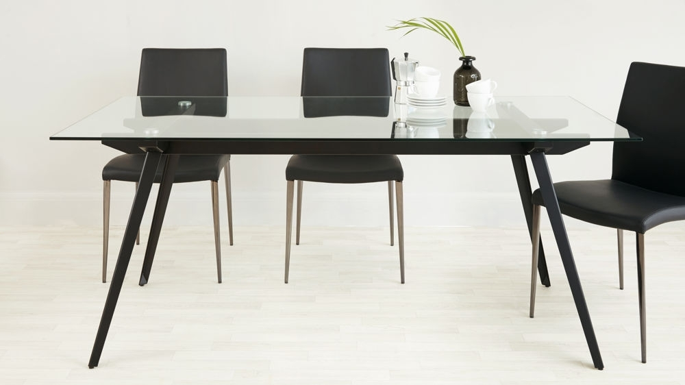 Black 8 Seater Dining Tables With Best And Newest 6 – 8 Seater Glass Dining Table (View 14 of 20)