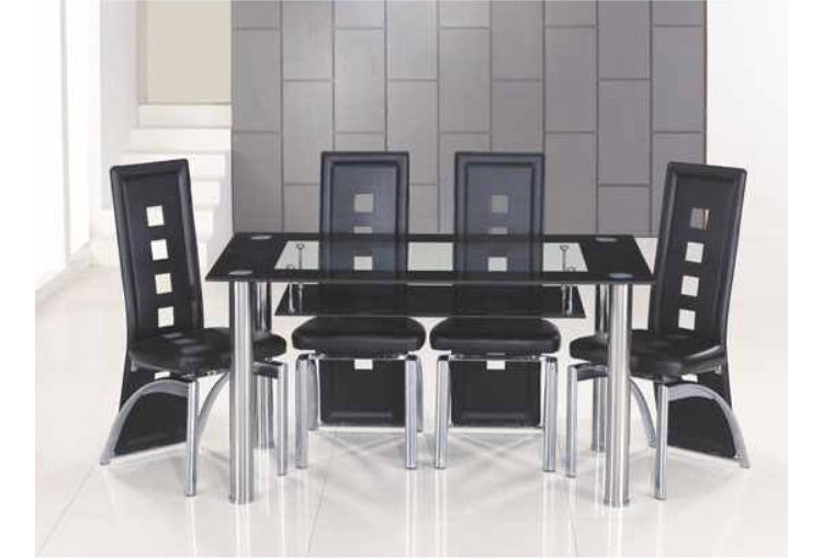 Featured Photo of Glass Dining Tables With 6 Chairs