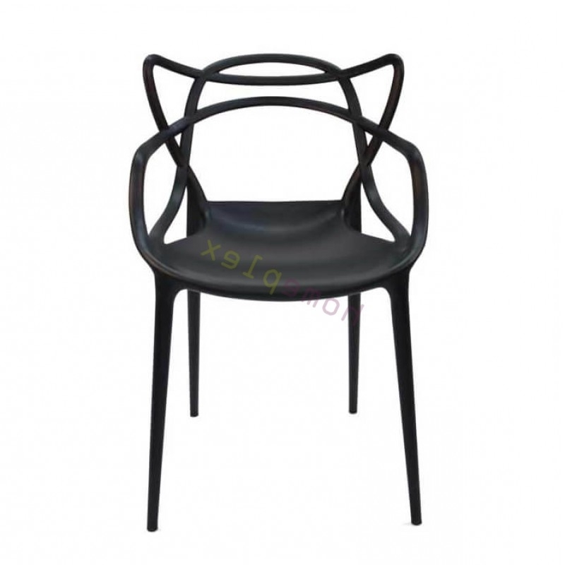 Black Dining Chairs In Latest Set Of 4 – Replica Philippe Starck Masters Black Dining Chair (View 3 of 20)