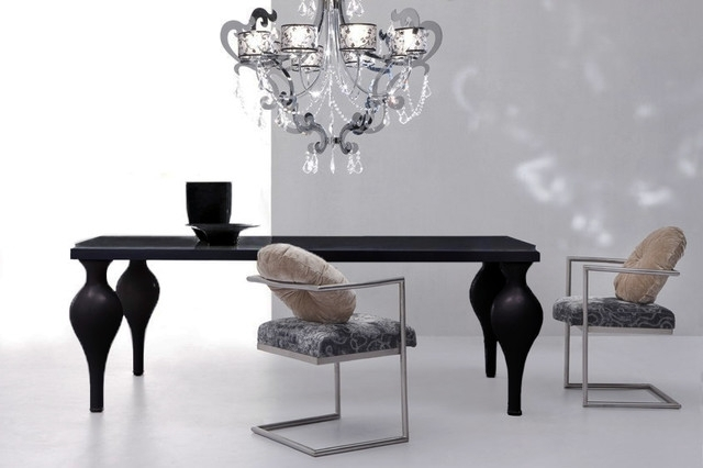 Black Dining Tables In Trendy Devereaux – Black Dining Table (View 6 of 20)